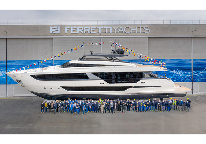 Ferretti Yachts 1000 launched: the largest  ever built by the Shipyard.