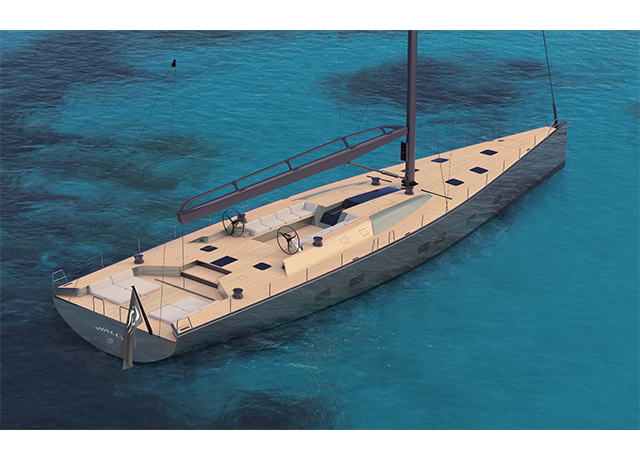 A new magnificent Wally 101-foot sailing cruiser-racer sold.